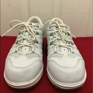 MBT Shoes - MBT White Rocker Toning Silver Walking Shoes